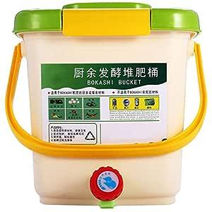 Nrpfell Contenedor de Compostaje de 12L Reciclar Compostador ...
