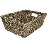 east2eden Rectangular A4 Deep Seagrass Office Paper Magazine Storage Basket Hamper (Single) by east2eden