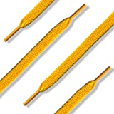 144 (12 Dozen) of 54'' (137 cm) Yellow Gold Shoelaces (Flat)
