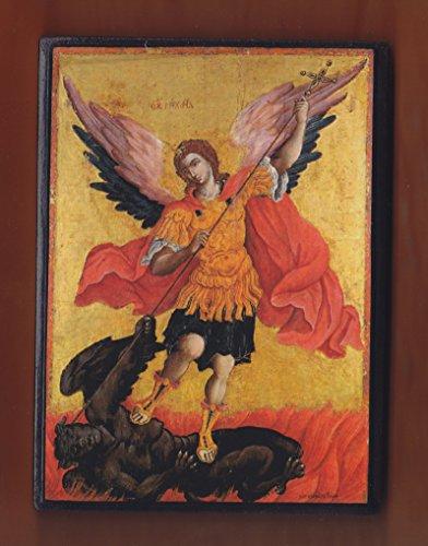 Archangel Michael by Theodoros Poulakis, 17th century,Cretan School,Greek Orthodox handmade Icon on Wood.]()