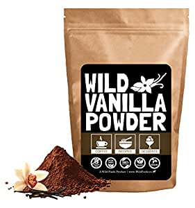 Vanilla Bean Powder, Raw Ground Vanilla Beans From Madagascar, Unsweet, Gluten-Free, Raw, All-Natural, Non-GMO, Vegan, Paleo (1 ounce)