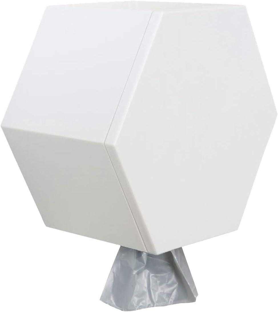 Leashboss Wall Mount Dog Poop Bag Dispenser for Home with 8 Rolls, Modern Pet Waste Bag Dispensing Holder and Storage Station