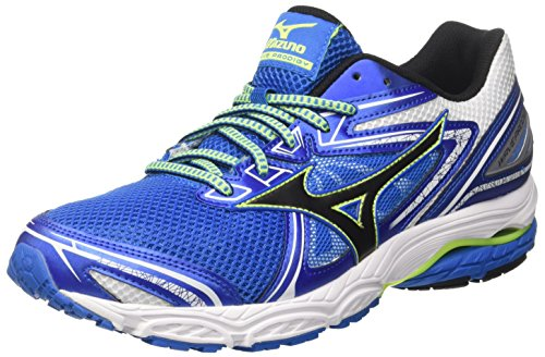 Mizuno Men Wave Prodigy Running Shoes, Black Multicolour (Directoireblue/Black/Safetyyellow 10)