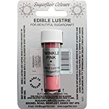 Sugarflair Edible Lustre Food Colouring Colour Dust Powder Icing - Twinkle Pink