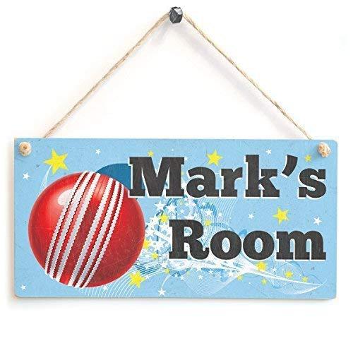 Cheyan Cricket Door Plaque Personalised Kids Room Wood Sign Home Decor Wall Plaque Wooden Haning Gift Sign