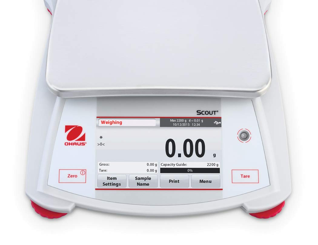Ohaus STX2201 Scout Portable Balance 2200G x 0.1g with Touchscreen