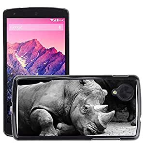Super Stella Slim PC Hard Case Cover Skin Armor Shell Protection // M00149273 Rhino Animals Zoo // LG Nexus 5