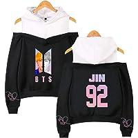 Flyself Women's BTS Hoodies Sweatshirts Off Shoulder Long Sleeve Jumper Pullover Sweater Jin Suga J-Hope RM Jimin V Jung…