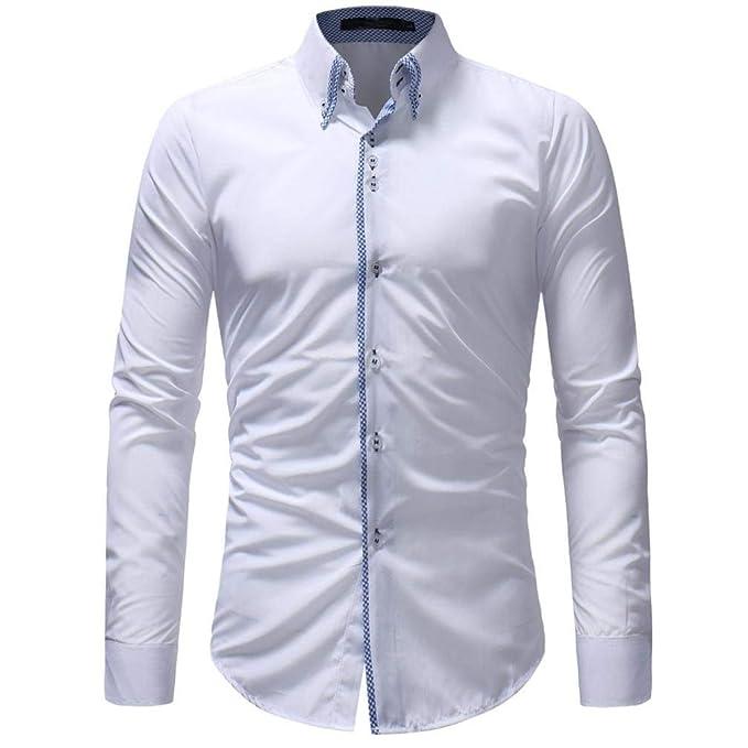 Camisa De Hombre Negro Blanco Amarillo Azul Camisa Unico De ...
