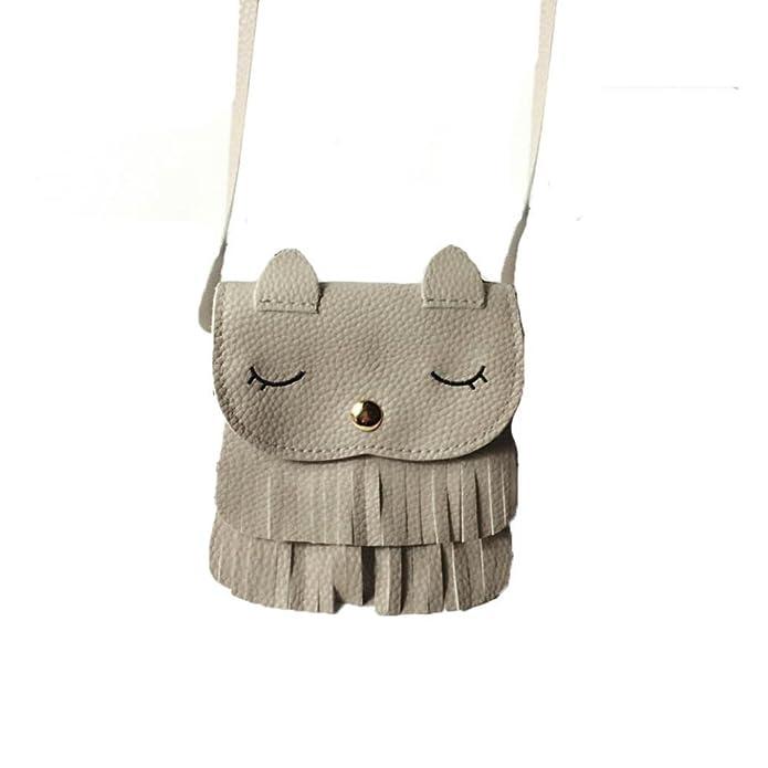 Women Cute Faux Suede Crossbody Cat Shoulder Bag Fringe Weave Tassel Messenger Handbag Over the Shoulder Purses: Handbags: Amazon.com