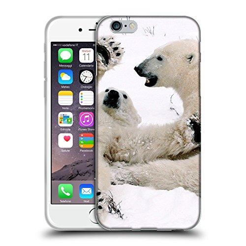 """Just Phone Cases Coque de Protection TPU Silicone Case pour // V00004114 Ourson polaire joue avec maman // Apple iPhone 6 6S 6G PLUS 5.5"""""""