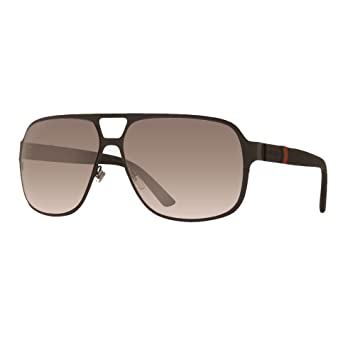 gucci sunglasses 2253 frame semi matte black lens gray gradient