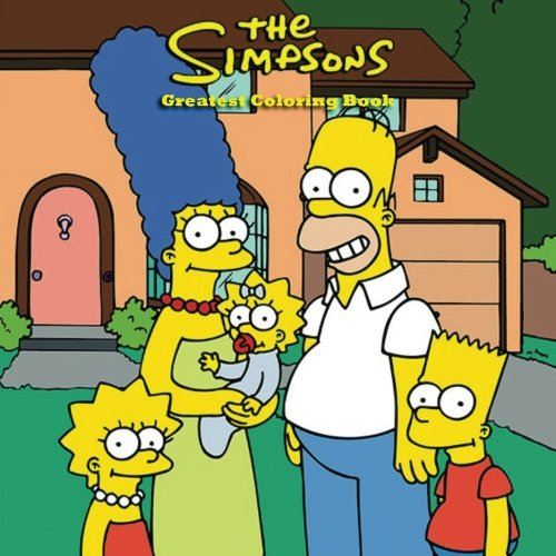 The Greatest Simpsons Coloring Book: 73 Page awesome coloring book for kids, Perfect gift for Birthdays and Christmas, Bart, Lisa, Barney, Futurama, ... Kids, Children, Present, Gift, Thanksgiving