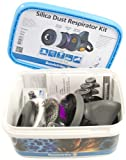 Sundstrom H10-0016 Silica Dust Respirator Kit with SR 90-3 M/L TPE Half Mask, P100/HE Particulate Filter and Prefilters