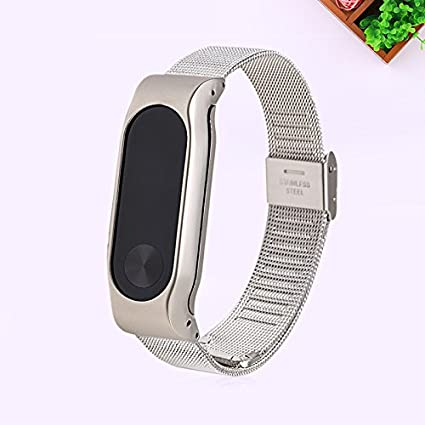 Amazon.com: Haihuic Mi Band 2 Bands 14mm Metal Replacement ...
