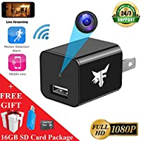 [LIVESTREAM] WiFi Hidden Camera - Spy Camera - 16GB Included - HD 1080P - Surveillance Camera - USB Nanny Cam - Smart Cam - Home Security - 128GB Memory Max