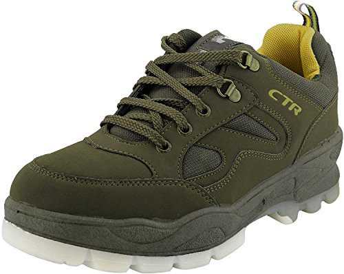 ADD GEAR CTR Trekking Shoes Anti-Skid Hiking Shoes Slip Resistant Mountain Boots in Action Trekking Colour-Olive + Free Silicone Goggle Band