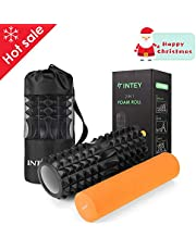 INTEY Foam Muscle Roller with Deep Massage Therapy Trigger Point for Pilates Pain Relief Deep Tissue Muscle Massage