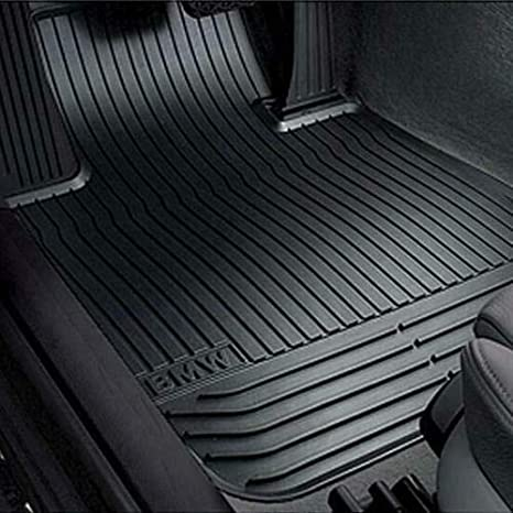 Für BMW 5er F07 GT X-Drive Fußmatten Velours schwarz mit Rand königsblau
