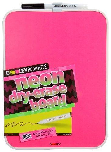 Dooley Boards Vinyl - Dooley Vinyl Framed Dry Erase Board, 8.5 x 11 Inches, Neon Pink, 1 Board (811MBVN) by Dooley Boards