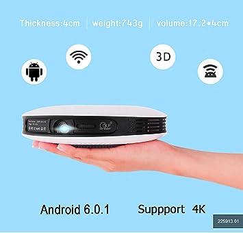 LZZL Proyector 4K HD DLP Doble frecuencia WiFi Mini 1080P 3D ...