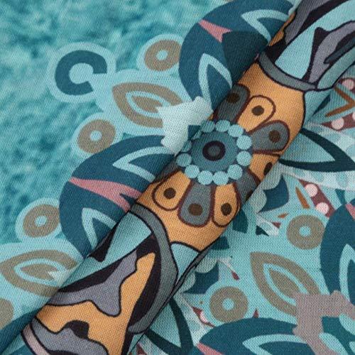 Manga Luckhome Mujer Multicolor para Vestido Moda Larga zqqnw0pS