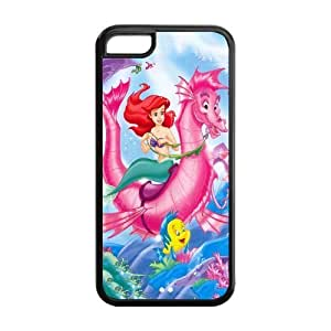 Cyber Monday Store Customize Beautiful Cartoon The Little Mermaid Back Case for iphone 5C JN5C-1667