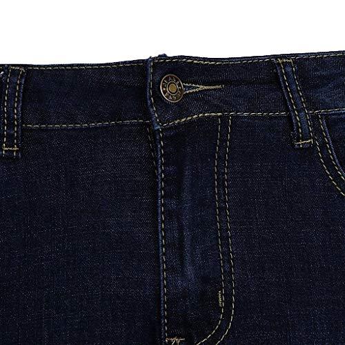 Alta Anni Per Vita Donna Dunkelblau Elasticizzati Pantaloni L'uso Jeans Strappati Skinny 20 A Comodi 8XxqSw