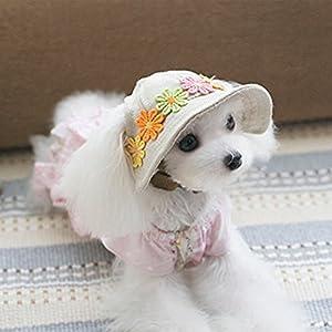 UEETEK Dog Cat Puppy Pet Chihuahua Sport Cap Bucket Hat Visor Sun Hat