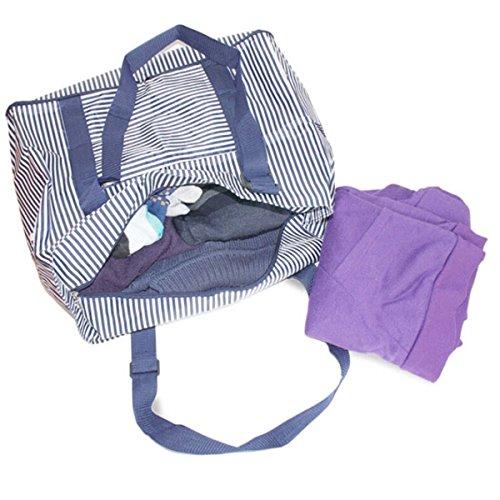 main plage de Femmes Plage à sac Femme HugeDE Nylon Étanche de poches sac pliable sable ZPacABq6