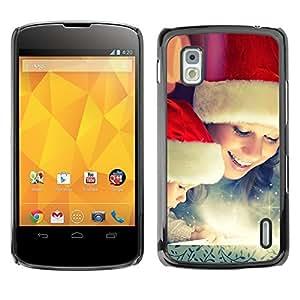 YOYO Slim PC / Aluminium Case Cover Armor Shell Portection //Christmas Holiday Happy Family 1214 //LG Google Nexus 4