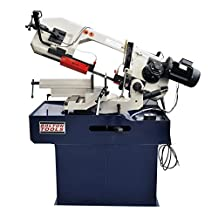 Bolton Tools BS-315G Horizontal Mitering Bandsaw With Swivel Mast 9 Inch x 12-3/8 Inch Metal Cutting Portable Band Saw