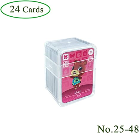 24 piezas Tarjetas de juego NFC Tag para Animal Crossing, (No. 25-No. 48) Tarjetas de juego Nfc con estuche de cristal Compatible con Nintendo Switch / Wii U: Amazon.es: Videojuegos