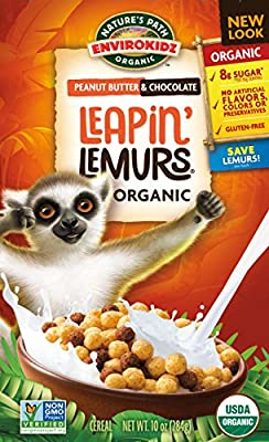 Envirokidz Organic Leapin' Lemurs Peanut Butter and Chocolate Cereal, 10 Ounce