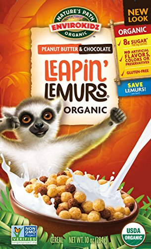 eapin' Lemurs Peanut Butter and Chocolate Cereal, 10 Ounce ()