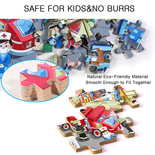 NEILDEN Puzzles for Kids Ages 4-8,Jigsaw Puzzles 100 Piece Learning Educational for Boys and Girls Children,Packed in Tin Box,DIY Puzzles Size: 11.2