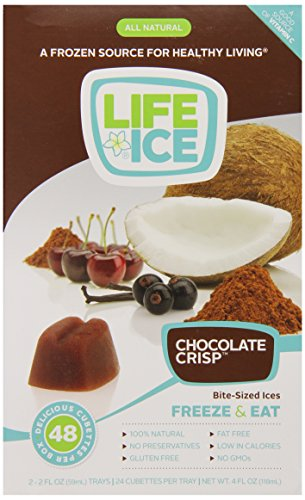LifeIce Bite-Sized Ices, Chocolate Crisp, 4 Ounce (Sized Desserts Bite)