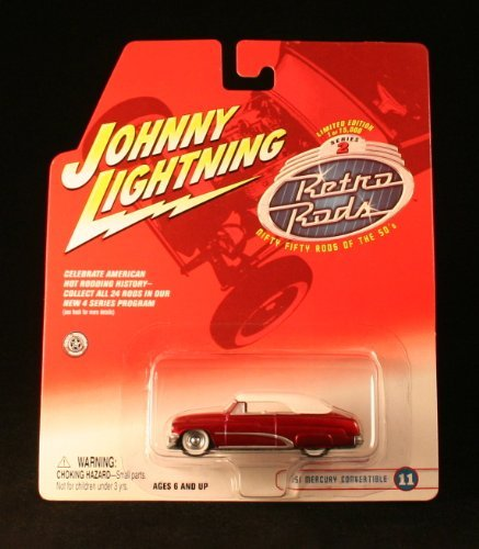 '51 MERCURY CONVERTIBLE #11 * RED * 2002 Johnny Lightning RETRO RODS Series 2 Limited Edition Die Cast Vehicle * 1 of only 15,000 ()