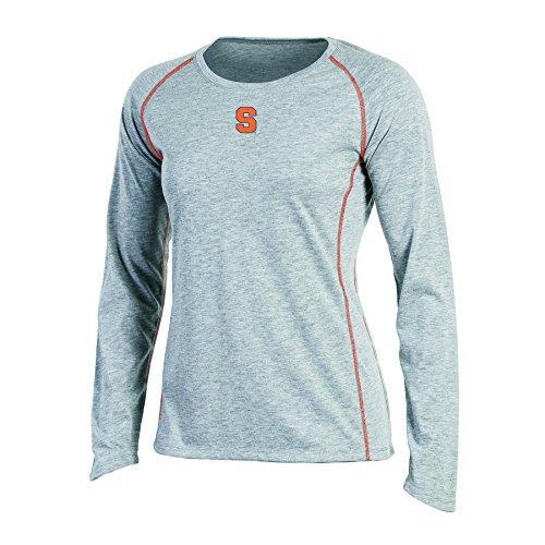 (NCAA Champion Women's Long sleeve Crew Neck Raglan T-Shirt, Syracuse Orange, X-Large, Gray Heather)
