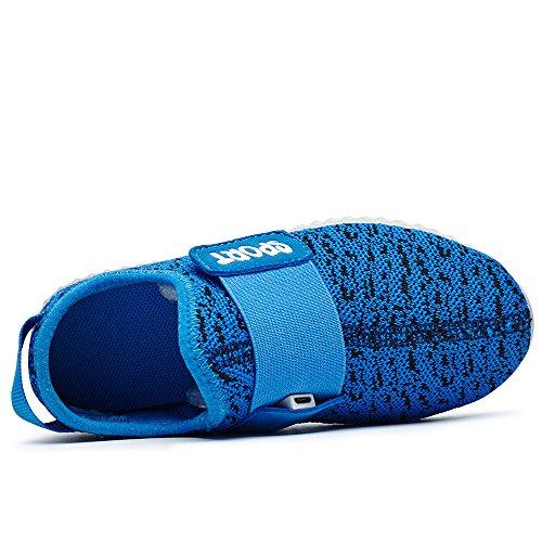 VILOCY Kinder LED Leuchtend Schuhe USB Aufladen Sneakers Für Jungen Mädchen Blau