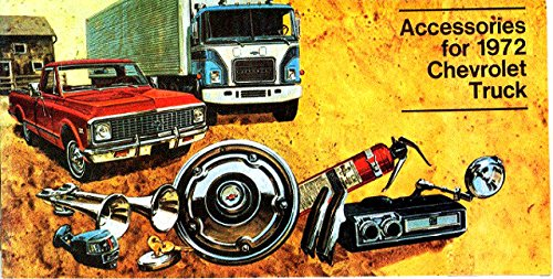 - 1972 CHEVROLET TRUCK & PICKUP ACCESSORIES AND FEATURES SALES BROCHURE - Also Medium Duty, Blazer, El Camino, Suburban, Carryall, Vans, Tilt Cab and Camper