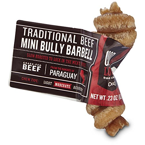 Good Lovin' Traditional Beef Mini Bully Barbell Dog Chew, Pack of 1