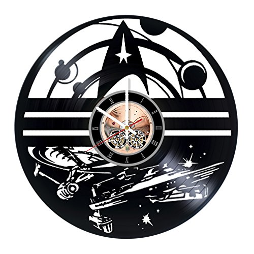 Female Vulcan Costumes (Star Trek Starships Vinyl Record Wall Clock - Home Room wall decor - Gift ideas for boys aand girls, men and women – Movie Unique Art Design)