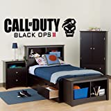 Call of Duty Black Ops 2 - Wall Decal Art Sticker boy's bedroom playroom hall (Color: Black Size: Large)