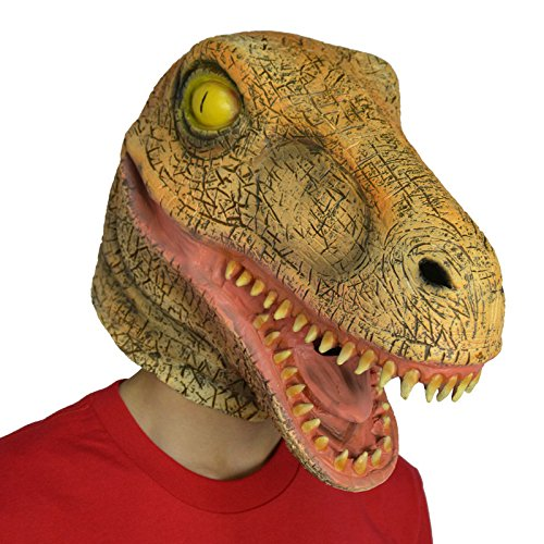 Amazlab Dinosaur Brontosaurus Mask for Halloween Costume Party Decorations, Halloween Props, Halloween Supplies