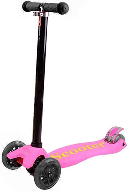 Childrens Swing Scooter with One-Click Folding Adjustable Design Scooter for 5-14 Year Old,Green