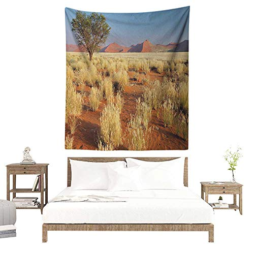 - WilliamsDecor Polyester Tapestry Landscape Acacia Tree Desert Sossusvlei Namibia Southern Africa Photo 70W x 84L INCH Suitable for Living Room, Bedroom, Beach