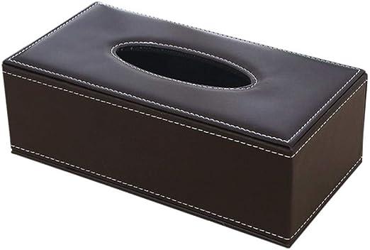 CVQE Home PU Leather Large Anti-Humedad Rectangular Tissue Paper Servilletero Caja Case Office Office Holder 24X13X9.5Cm.Coffee: Amazon.es: Hogar
