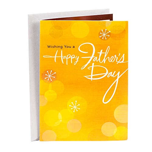 Hallmark Father's Day Greeting Card (Orange Starbursts Happy Father's Day (Brother Card)
