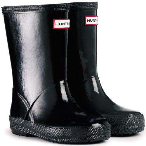 Unisex Kinder Hunter Kinder First Gloss Regen Wasserdicht Gummistiefel Schwarz